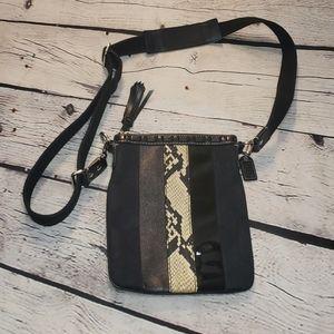 Black Coach Swingpack Hamptons Crossbody Bag